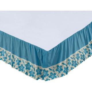 Coralie Azure King Bed Skirt