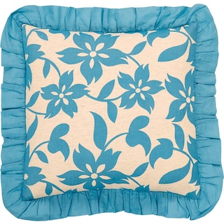 Coralie Azure Pillow W/Down Fill