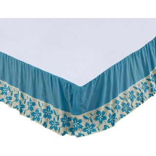 Coralie Azure Queen Bed Skirt