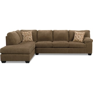 Masham Chenille 2-Piece Left-Facing Chaise Sleeper Sectional
