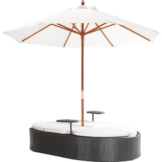 Viewpoint Double Chaise Lounger W/Sun Proof Umbrella