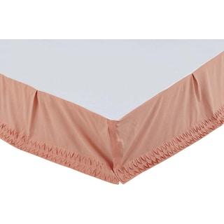 Aurélie Apricot Queen Bed Skirt
