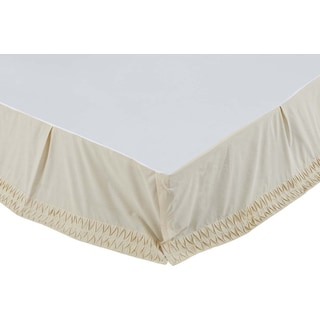 Aurélie Creme Queen Bed Skirt