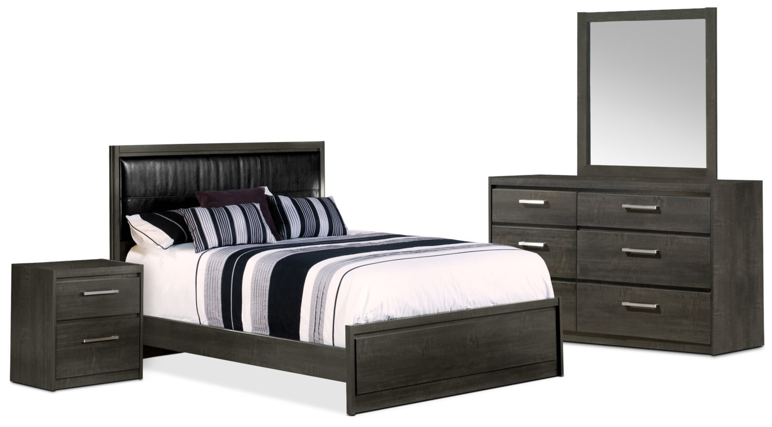 Bedroom Furniture - Lydney 6-Piece Queen Bedroom Package