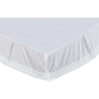 Aurélie White Queen Bed Skirt