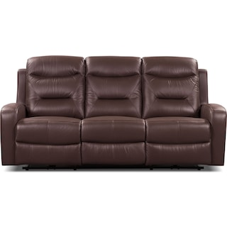 Courtown Power Reclining Sofa – Brown