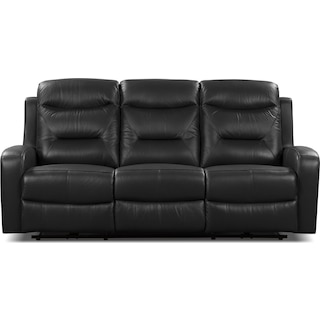 Courtown Black Power Reclining Sofa – Black