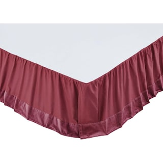 Juliette Mauve King Bed Skirt