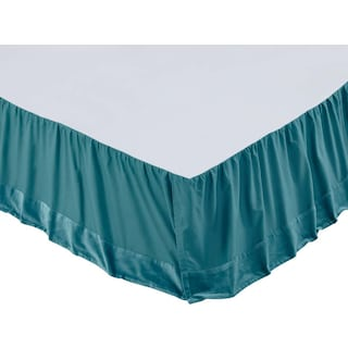 Juliette Teal Queen Bed Skirt