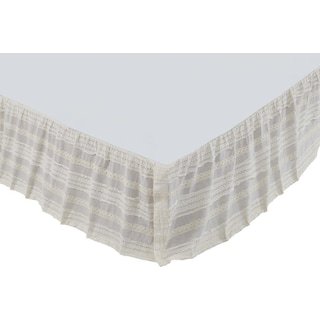 Lola Creme Queen Bed Skirt