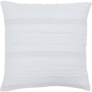 Lola White Pillow W/Down Fill