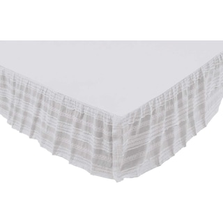Lola White Queen Bed Skirt