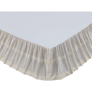 Mael Creme Twin Bed Skirt