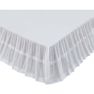 Mael White Twin Bed Skirt