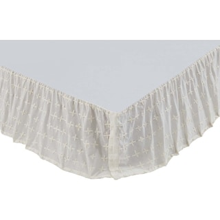 Nina Creme Queen Bed Skirt