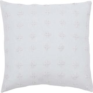 Nina White Pillow W/Down Fill