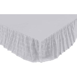 Nina White Queen Bed Skirt