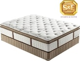 Mattresses and Bedding-Estate  M  Luxury Plush Euro Pillow Top California King Mattress/Boxspring Set